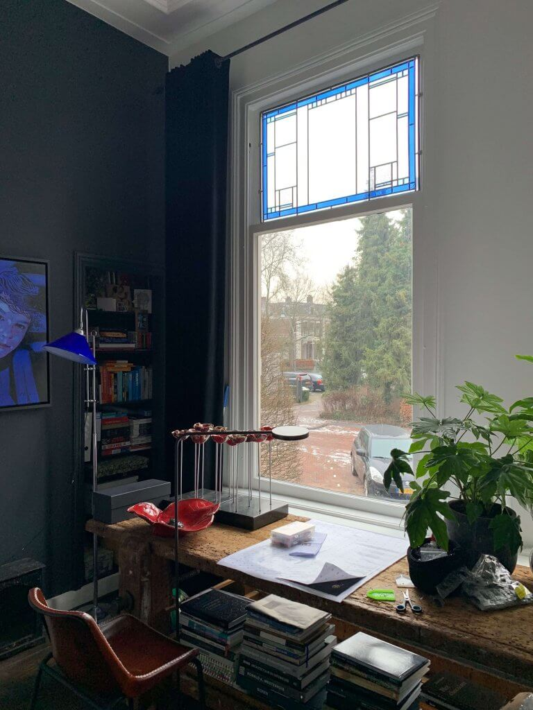 glas in lood, bovenraam, Zwolle, binnenstad, klassiek, modern, op maat gemaakt, Brandglass