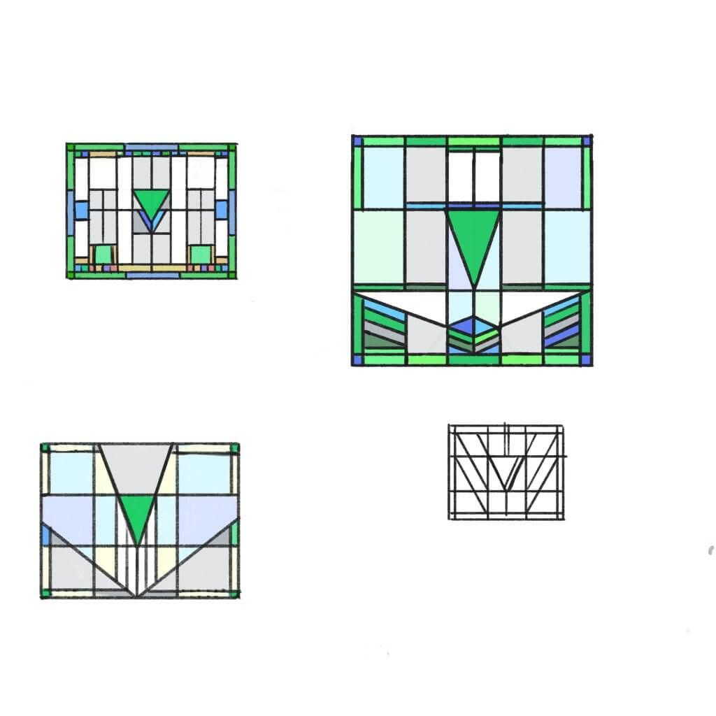 het ontwerp proces van de bovenramen is in samenwerking met de klant zeer prettig verlopen. Een mooie aanzet met een nog mooier eindresultaat